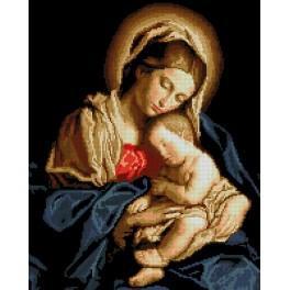 Kanwa z nadrukiem - Madonna z dzieciątkiem