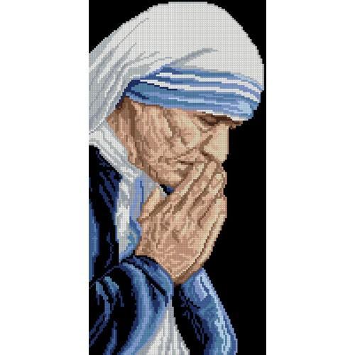 Kanwa z nadrukiem - Matka Teresa z Kalkuty