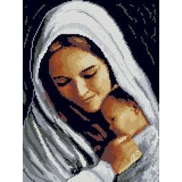 Kanwa z nadrukiem - Matka z dzieckiem