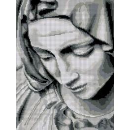 Kanwa z nadrukiem - Pieta Michała Anioła