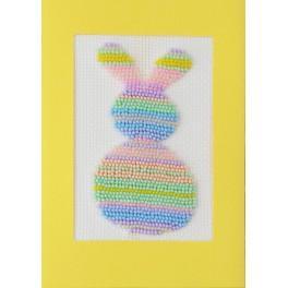 ZUK 8893 Zestaw z koralikami i kartką - Pastelowy zajączek