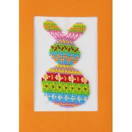 ZUK 8894 Zestaw z koralikami i kartką - Kolorowy zajączek