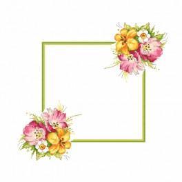 Wzór graficzny - Serwetka z wiosennym bukietem