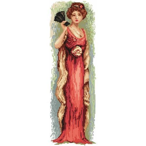 Aida z nadrukiem - Kobieta z wachlarzem