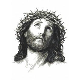 ZN 8888 Zestaw z nadrukiem i muliną - Jezus Chrystus