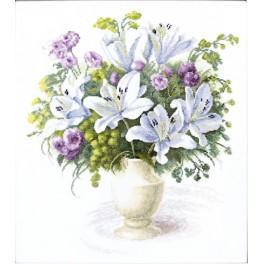 Zestaw z muliną - Bukiet z białymi liliami