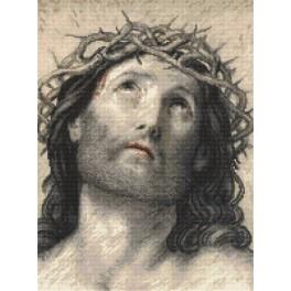 ZN 8889 Zestaw z nadrukiem i muliną - Jezus Chrystus wg Guido Reni