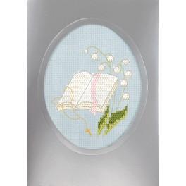 ZU 8736-02 Zestaw z muliną i kartką - Kartka komunijna - Pismo Święte