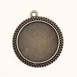 Baza medalionu okrągła brąz 30mm