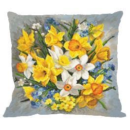 Wzór graficzny - Poduszka - Poduszka - Kwiaty wiosny II