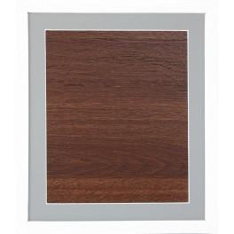 Ramka drewniana - kolor biały - jasnoszare psp (23,5x27,5cm)