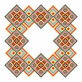 Wzór graficzny - Serwetka - Kolorowe kwadraty