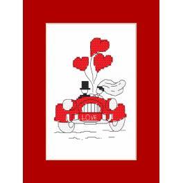 Wzór graficzny - Kartka - Podróż poślubna
