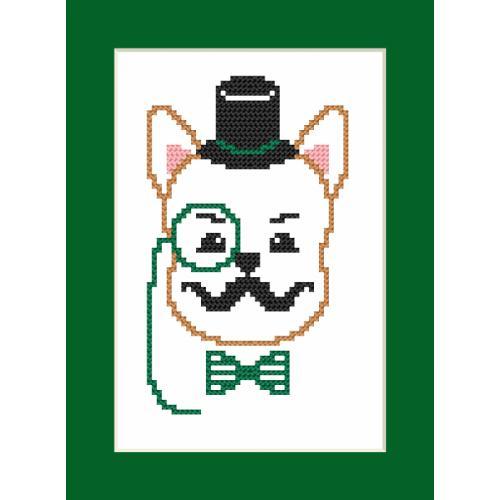 Wzór graficzny online - Kartka- Hipster dog boy I