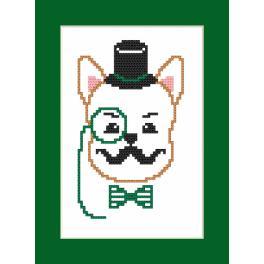Wzór graficzny - Kartka- Hipster dog boy I