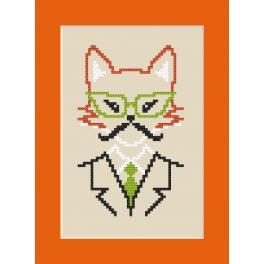 Wzór graficzny - Kartka - Hipster fox boy