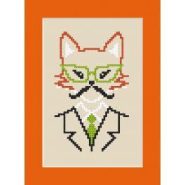 Zestaw z muliną - Kartka - Hipster fox boy