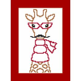 Wzór graficzny online - Kartka- Hipster giraffe boy
