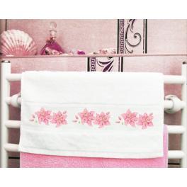 Wzór graficzny - Ręcznik z lilią