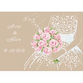 Wzór graficzny online - Ślubna pamiątka