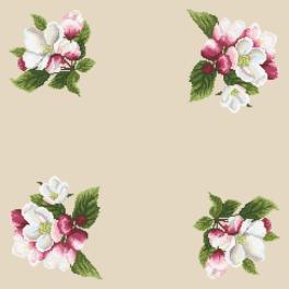 Wzór graficzny online - Serwetka - Dookoła jabłoni II