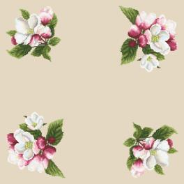 Wzór graficzny - Serwetka - Dookoła jabłoni II