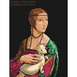 Kanwa z nadrukiem - Leonardo da Vinci - Dama z łasiczką