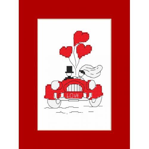 Zestaw z koralikami i kartką - Kartka - Podróż poślubna