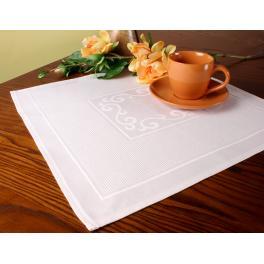 Serwetka Pola z aidową wstawką 42x42 cm biała