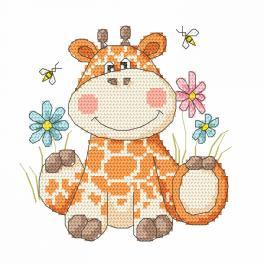 Kanwa z nadrukiem - Słodka żyrafka