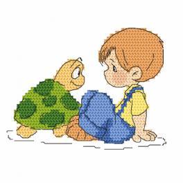 Wzór graficzny - Jasiu i żółwik