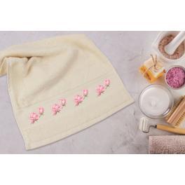 Zestaw z muliną - Ręcznik z lilią