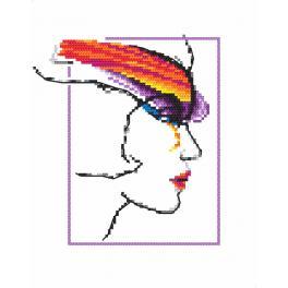Wzór graficzny - Kobieta z tęczą