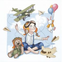 Zestaw z muliną - Młody pilot