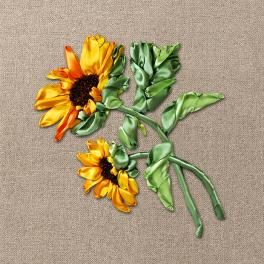 Zestaw wstążeczkowy – Słoneczniki