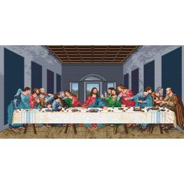 Kanwa z nadrukiem - Ostatnia Wieczerza - L. da Vinci