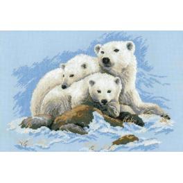 Zestaw z włóczką - Niedźwiedzie polarne