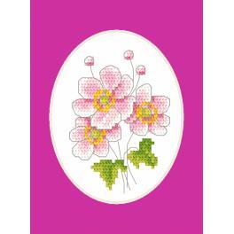 W 8746 Wzór graficzny ONLINE pdf - Kartka okolicznościowa - Zawilec japoński