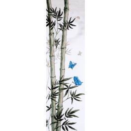 Zestaw z muliną - Motyle w pędach bambusa