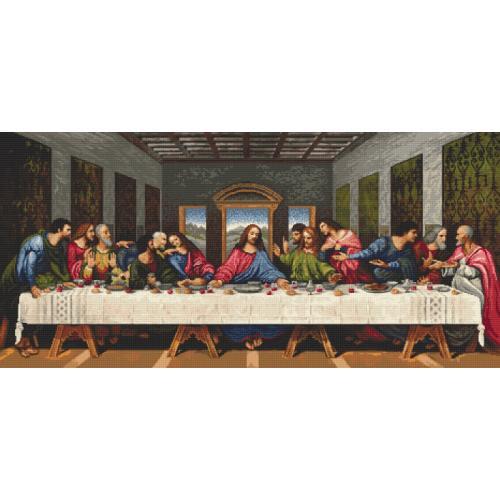 Zestaw z nadrukiem i muliną - Ostatnia Wieczerza - L. da Vinci