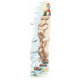 Zestaw z nadrukiem i muliną - Latarnia morska