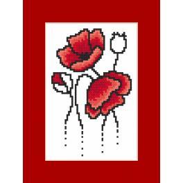 W 8927 Wzór graficzny ONLINE pdf - Kartka z makami