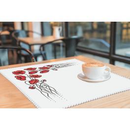 Wzór graficzny - Serwetka z makami