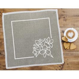 Wzór graficzny - Serwetka lniana z liliami