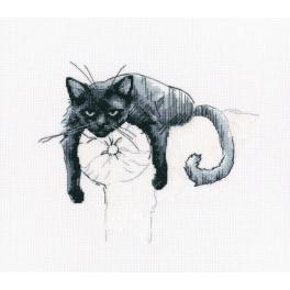 Zestaw z muliną - Czarny kot - Nie przeszkadzać