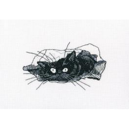 Zestaw z muliną - Czarny kot - Szukaj!