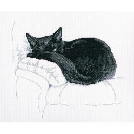 Zestaw z muliną - Czarny kot - Obserwuje Cię