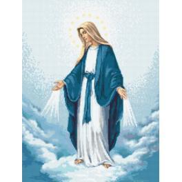 ZN 10131 Zestaw z nadrukiem i muliną - Matka Boska Niepokalanego Poczęcia