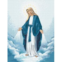 Zestaw z nadrukiem i muliną - Matka Boska Niepokalego Poczęcia