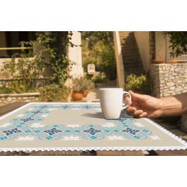 Zestaw z muliną i serwetką - Serwetka marokańska I